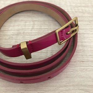 J. Crew Accessories - J. Crew Patent Fuchsia Belt